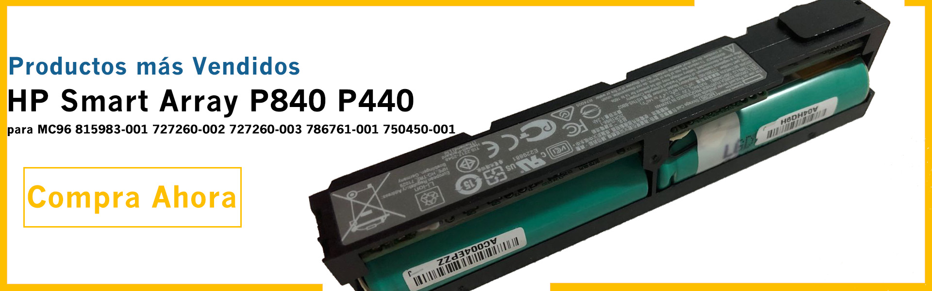 MC968 para HP Smart Array P840 P440